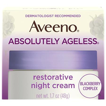 Aveeno Absolutely Ageless Restorative Night Face Cream Blackberry - 1.7 oz.