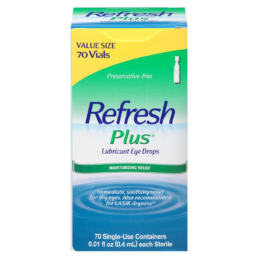 Refresh Plus Lubricant Eye Drops Value Size Walgreens