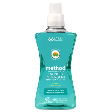 Method Laundry Detergent 4x Concentrated Beach Sage, 53.5 oz - 54 oz.