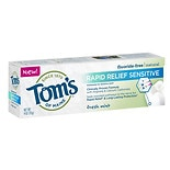 Tom's of Maine Rapid Relief Sensitive Fluoride-Free Natural Toothpaste Fresh Mint