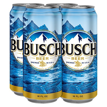 Busch Beer - 16 fl oz x 4 pack
