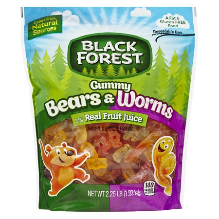 Black Forest Gummy Bears & Worms Stand Up Pouch - 36 oz.