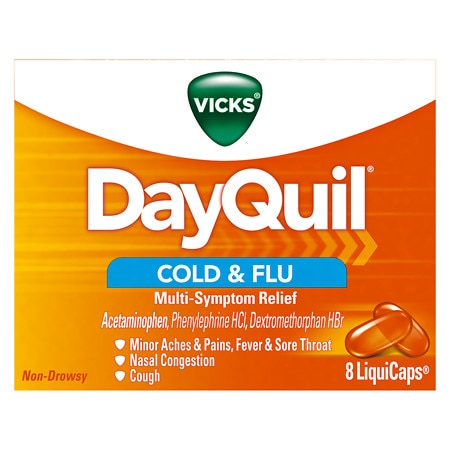 Vicks Dayquil Cold & Flu LiquiCaps - 8 ea