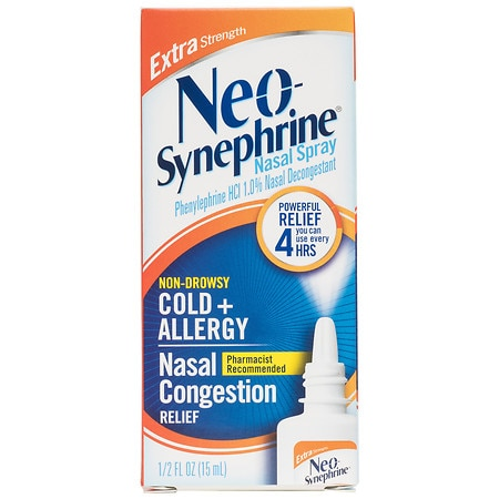 Neo-Synephrine Cold & Sinus Extra Strength Nasal Decongestant Spray - 0.5 fl oz