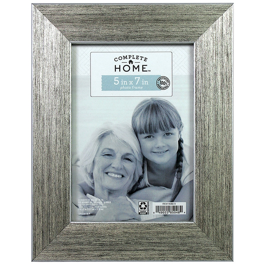 Home Elements Roma Frame 5 X 7 Inches Silver/Black | Walgreens