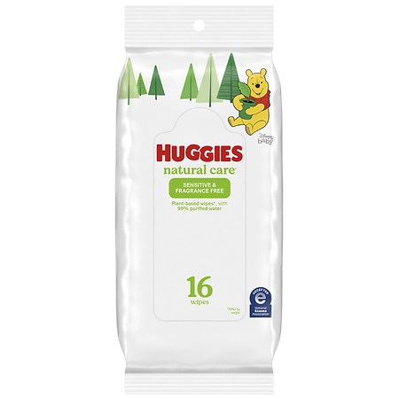 Huggies Natural Care Baby Wipes, Soft Pack, Fragrance-free, Alcohol-free, Hypoallergenic Fragrance Free - 16 ea
