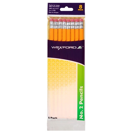 Wexford No. 2 Yellow Pencils - 8 ea
