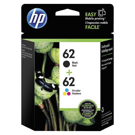 HP Combo Pack Ink Cartridges 62 CVP - 2 ea
