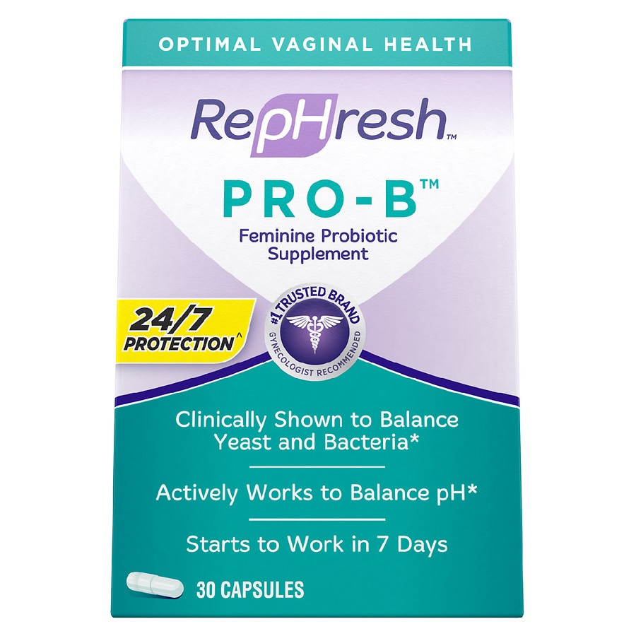 Rephresh Pro B Probiotic Feminine Supplement Capsules