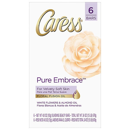 Image of Caress Beauty Bar Pure Embrace - 4 oz. x 6 pack