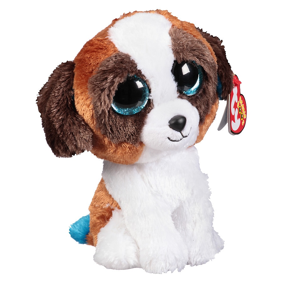 Ty Beanie Boos Plush Toy Duke Dog Brown  White 5a71c07b7dcf