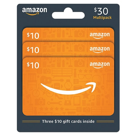 Amazon.com 3 Pack - $10 Gift Cards | Walgreens