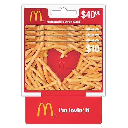 MCDONALD'S 4 Pack - $10 Gift Cards | Walgreens