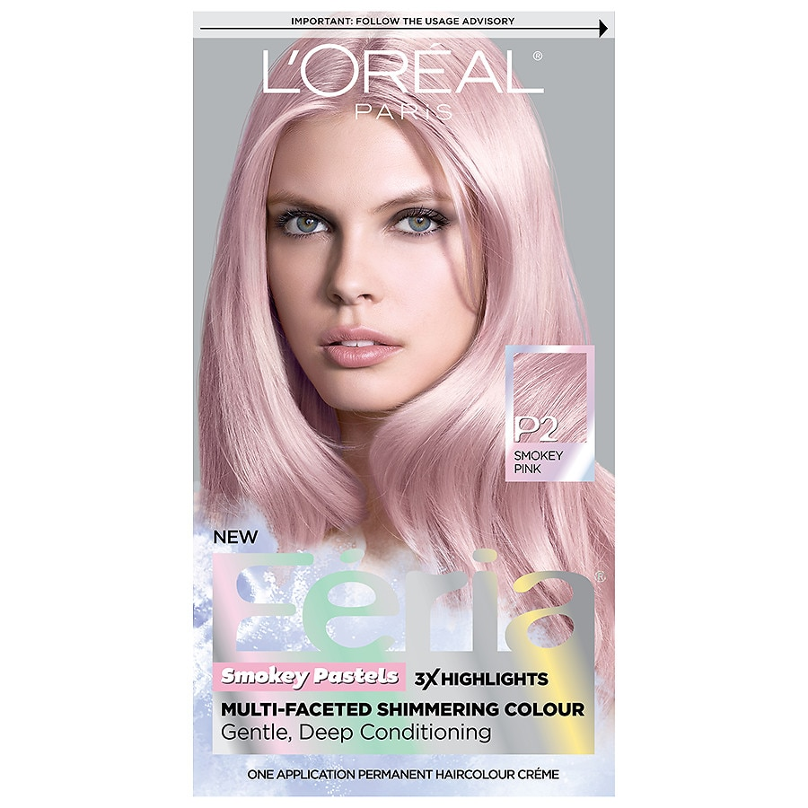 Loreal Paris Feria Pastels Hair Colorp2 Rosy Blush Smokey Pink