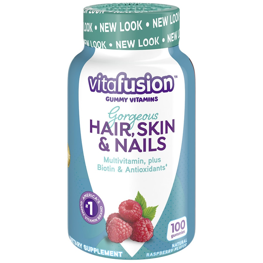Vitafusion Gorgeous Hair, Skin & Nails Multivitamin, Gummies Natural ...
