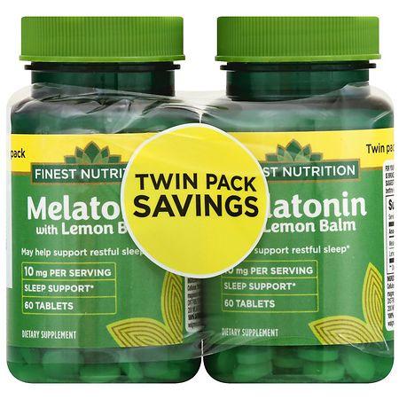 Finest Nutrition Melatonin 10 mg - 60 ea x 2 pack