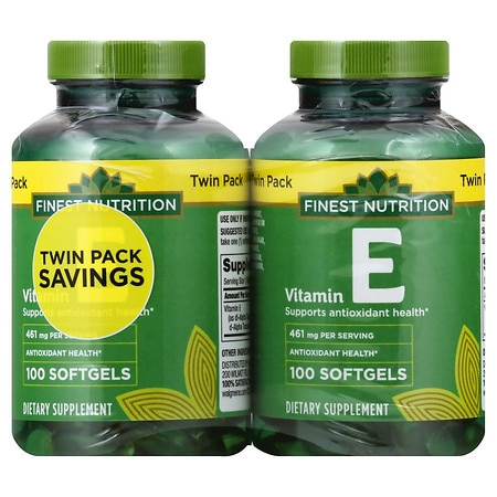 Finest Nutrition Vitamin E 1000 IU - 100 ea x 2 pack
