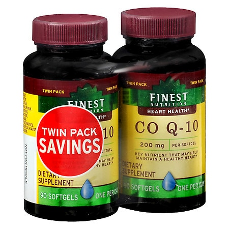 Finest Nutrition CoQ10 200 mg - 90 ea x 2 pack