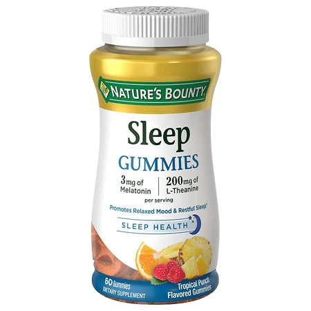 Nature's Bounty Sleep Complex 3 mg Melatonin/200 mg Gummies Punch - 60 ea