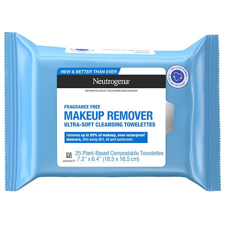 Neutrogena Makeup Remover Cleansing Towelettes Fragrance Free - 25 ea