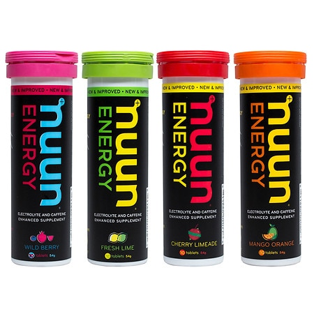 nuun Hydrating Electrolyte Tablet Variety Pack - 1.9 oz. x 4 pack