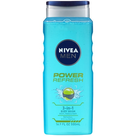 Nivea Men Power Refresh 3-in-1 Body Wash - 16.9 oz.