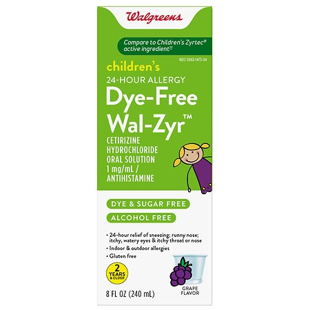 Walgreens Wal-Zyr Children's Sugar-Free Dye-Free Liquid Grape