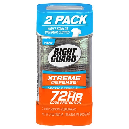 Right Guard Xtreme Defense 5 Antiperspirant & Deodorant Gel Arctic Refresh - 4 oz. x 2 pack