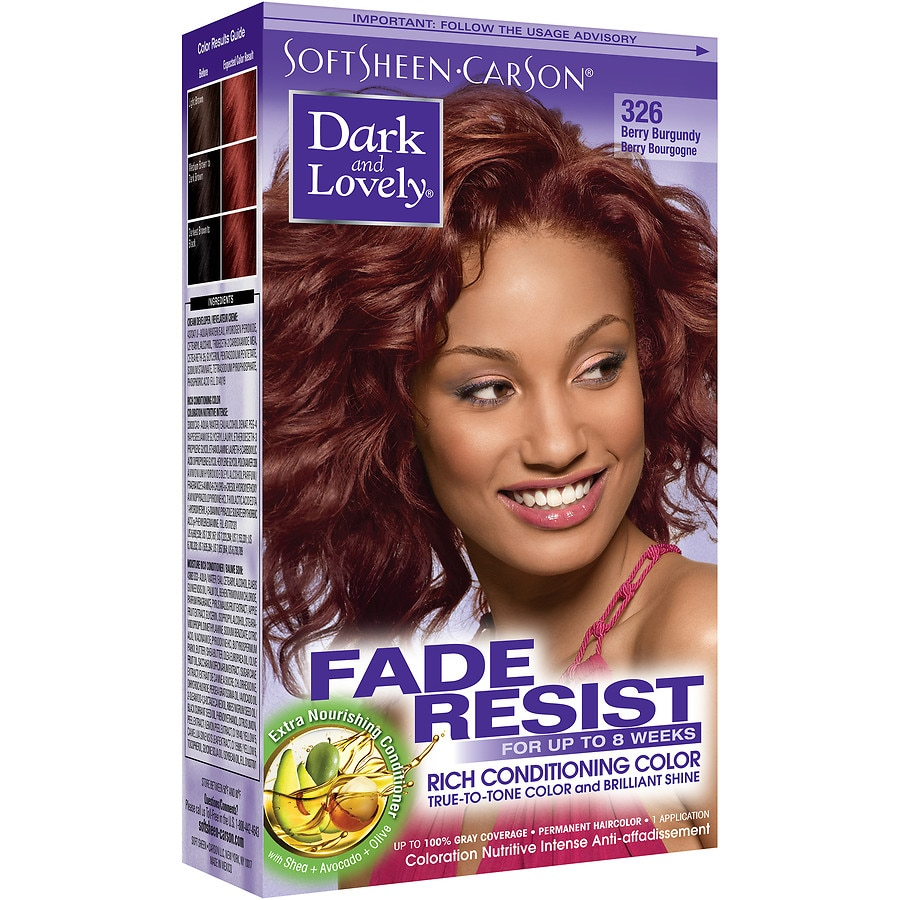 Softsheen Carson Dark And Lovely Permanent Hair Colorberry Burgundy