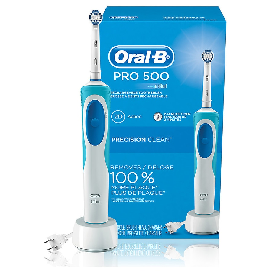 oral b pro 500 electric rechargeable toothbrush with. Black Bedroom Furniture Sets. Home Design Ideas