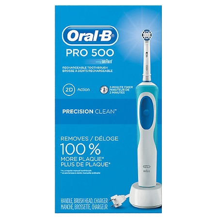 Oral-B Pro 500 Electric Rechargeable Toothbrush with Precision Clean Brush Head - 1 ea