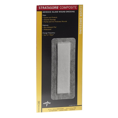 Medline Stratasorb Composite Dressing 4x10 - 10 ea