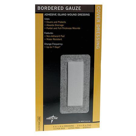 Medline Sterile Bordered Gauze 4x8 - 15 ea