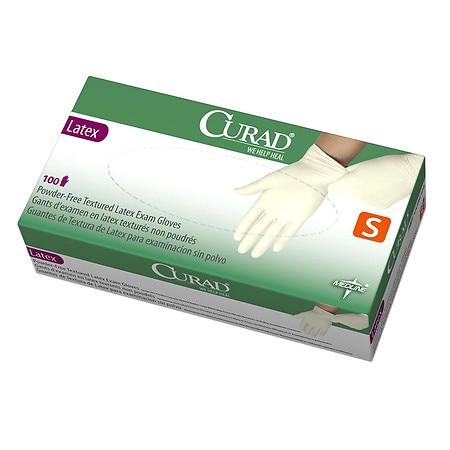 Medline Curad Powder-Free Textured Latex Exam Gloves Small - 1000 ea
