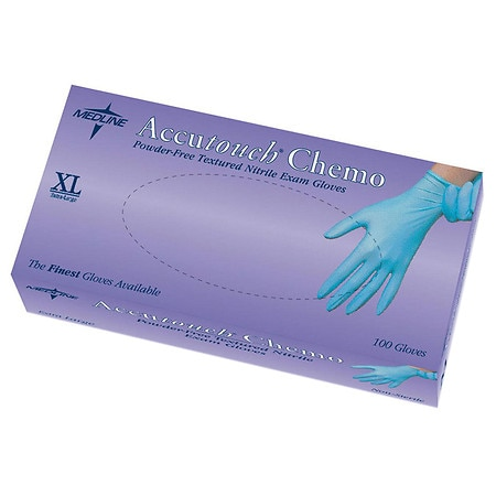 Medline Accutouch Chemo Nitrile Exam Gloves X-Large - 1000 ea