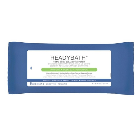 Medline ReadyBath Total Body Cleansing Standard Weight Washcloths Scented - 8 ea x 30 pack