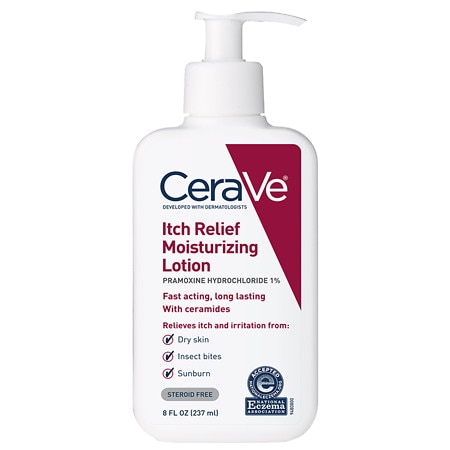 CeraVe Itch Relief Moisturizing Lotion Fragrance Free with Essential Ceramides - 8 oz.