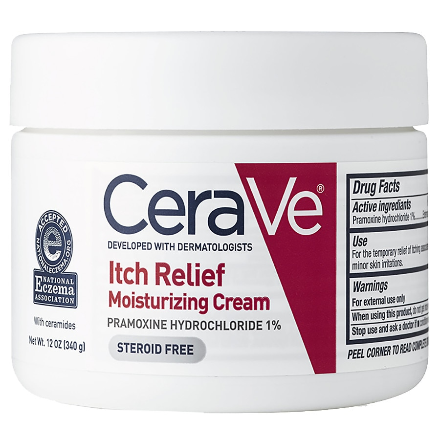 CeraVe Itch Relief Moisturizing Cream Fragrance Free with Essential  Ceramides
