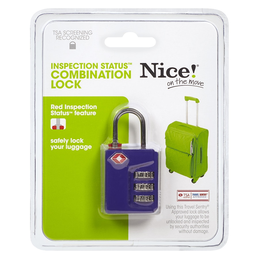 Nice On The Move Tsa 3 Dial I S Lock Walgreens