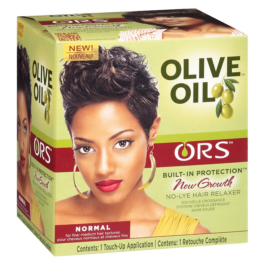 Ors New Growth No Lye Hair Relaxer Kit Normal Walgreens