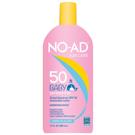 NO-AD Baby SPF 50 Sunscreen Lotion - 13 oz.