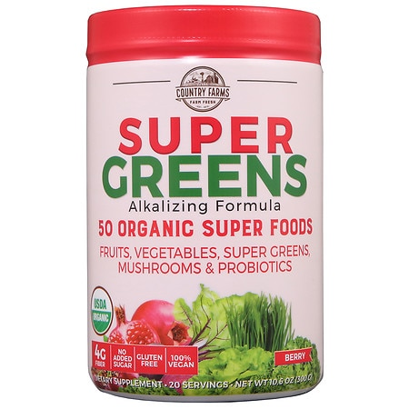 Country Farms Super Greens Super Food & Berry Blend - 9.88 oz.