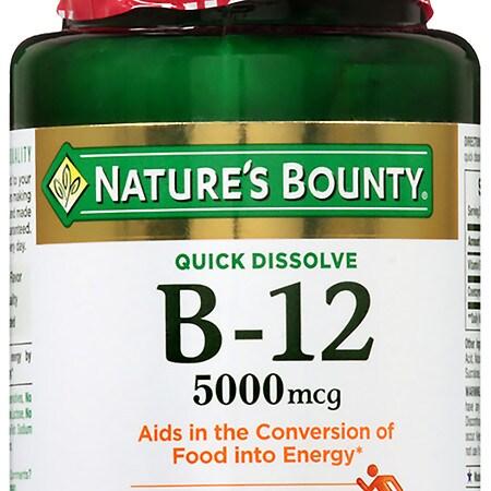 Nature's Bounty B-12 5000 mcg, Quick Dissolve - 40 ea