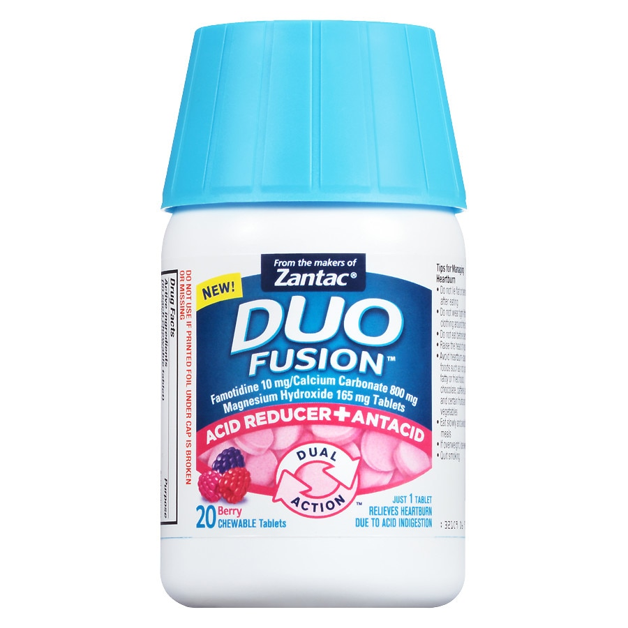 Duo Fusion Acid Reducer + Antacid Berry | Walgreens