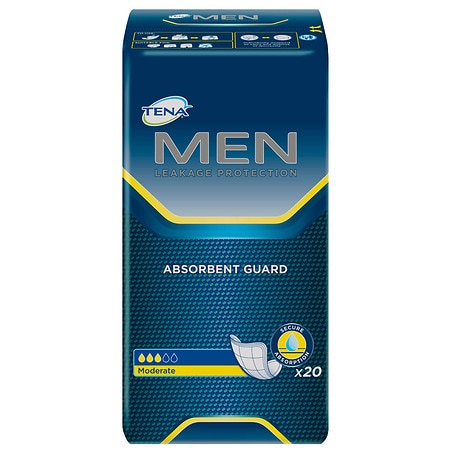 Tena Incontinence Guards For Men, Moderate - 20 ea