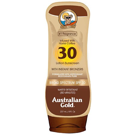 Australian Gold SPF 30 Sunscreen Lotion with Bronzers Tropical - 8 fl oz