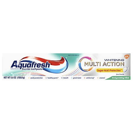 Aquafresh Multi-Action Whitening Toothpaste Invigorating ...