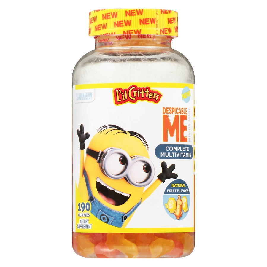 16c4a297c59 L'il Critters Despicable Me Complete Multivitamins Gummies  Strawberry-Banana190ea