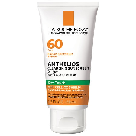 La Roche-Posay Anthelios Clear Skin Dry Touch Face Sunscreen SPF 60 with Cell Ox Shield - 1.7 oz.
