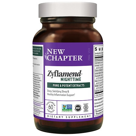 New Chapter Zyflamend Nighttime, Vegetarian Capsules - 60 ea